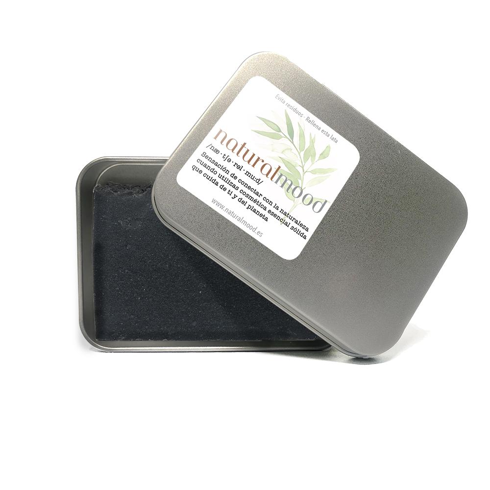 jabón natural artesano de oliva con carbón activo