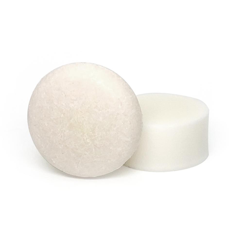 champú y acondicionador sólidos de coco para pelo seco