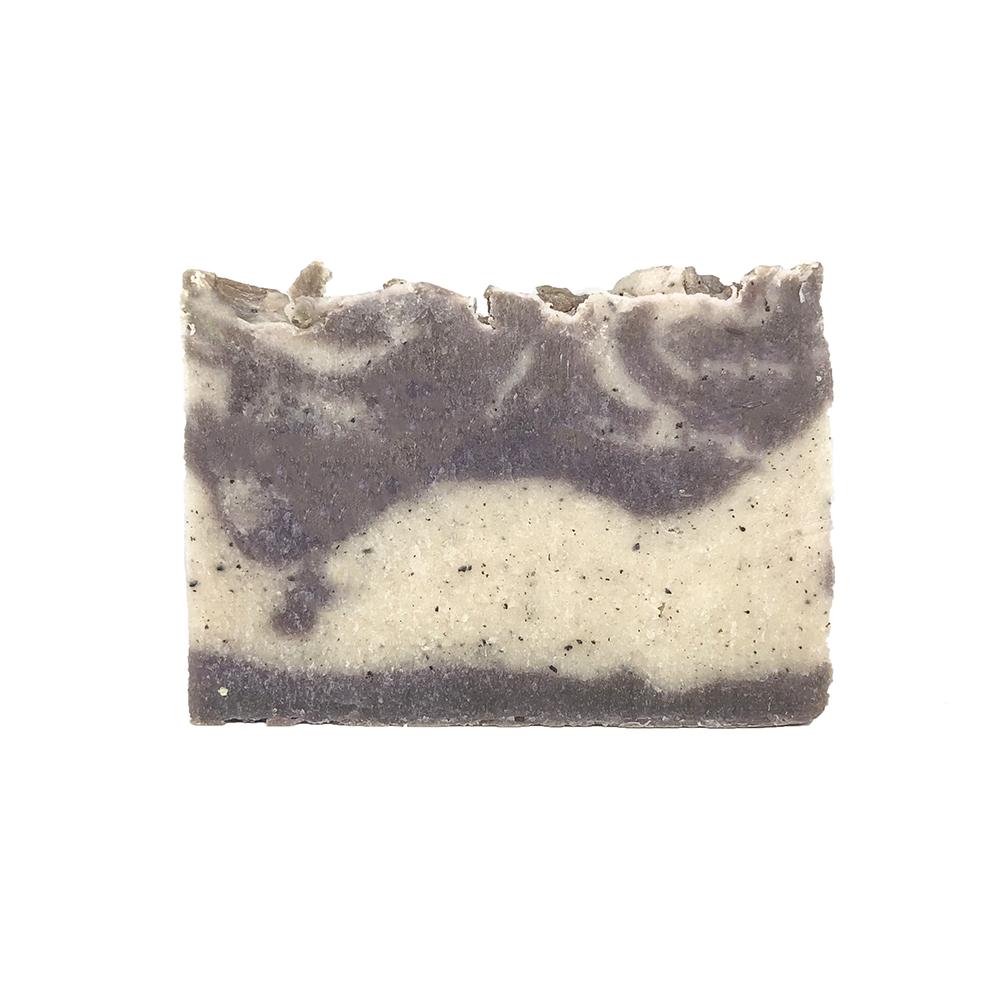 jabón natural de aceite de oliva con cacao y coco