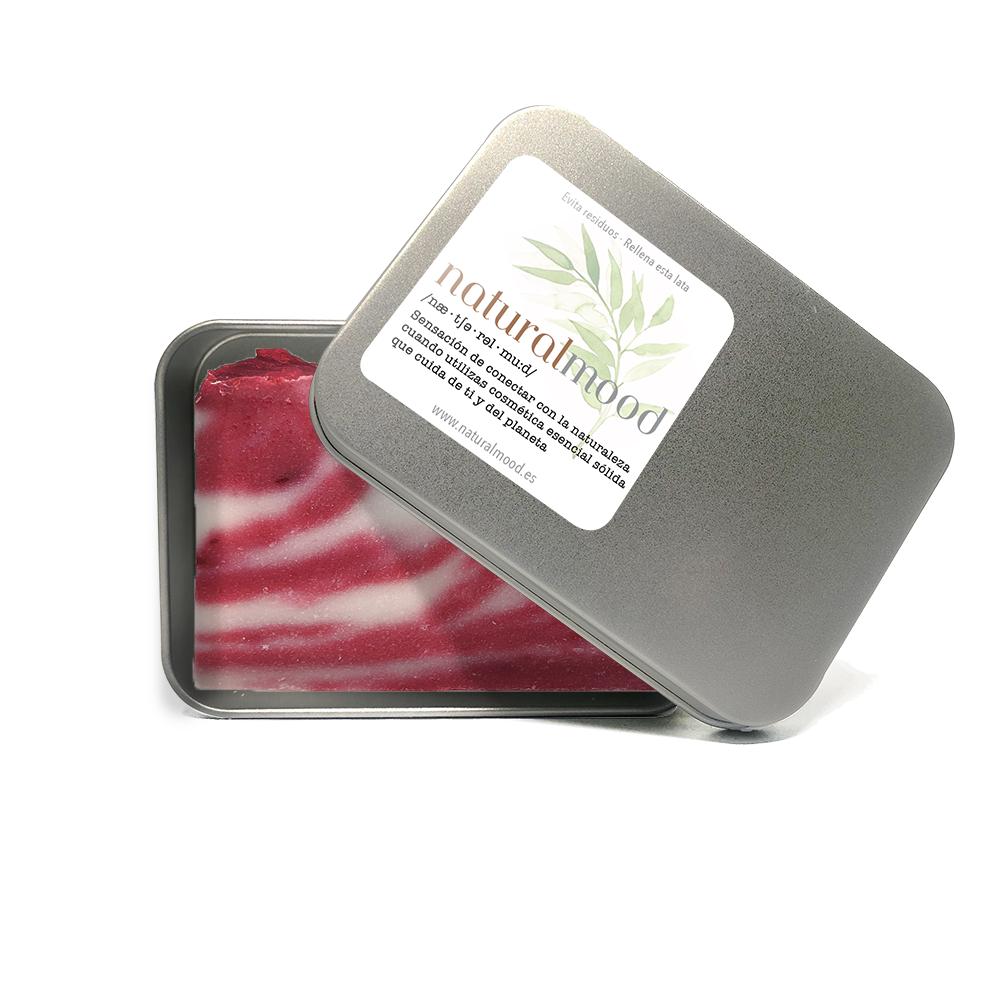 pastilla de jabón artesano de aceite de oliva con karité.