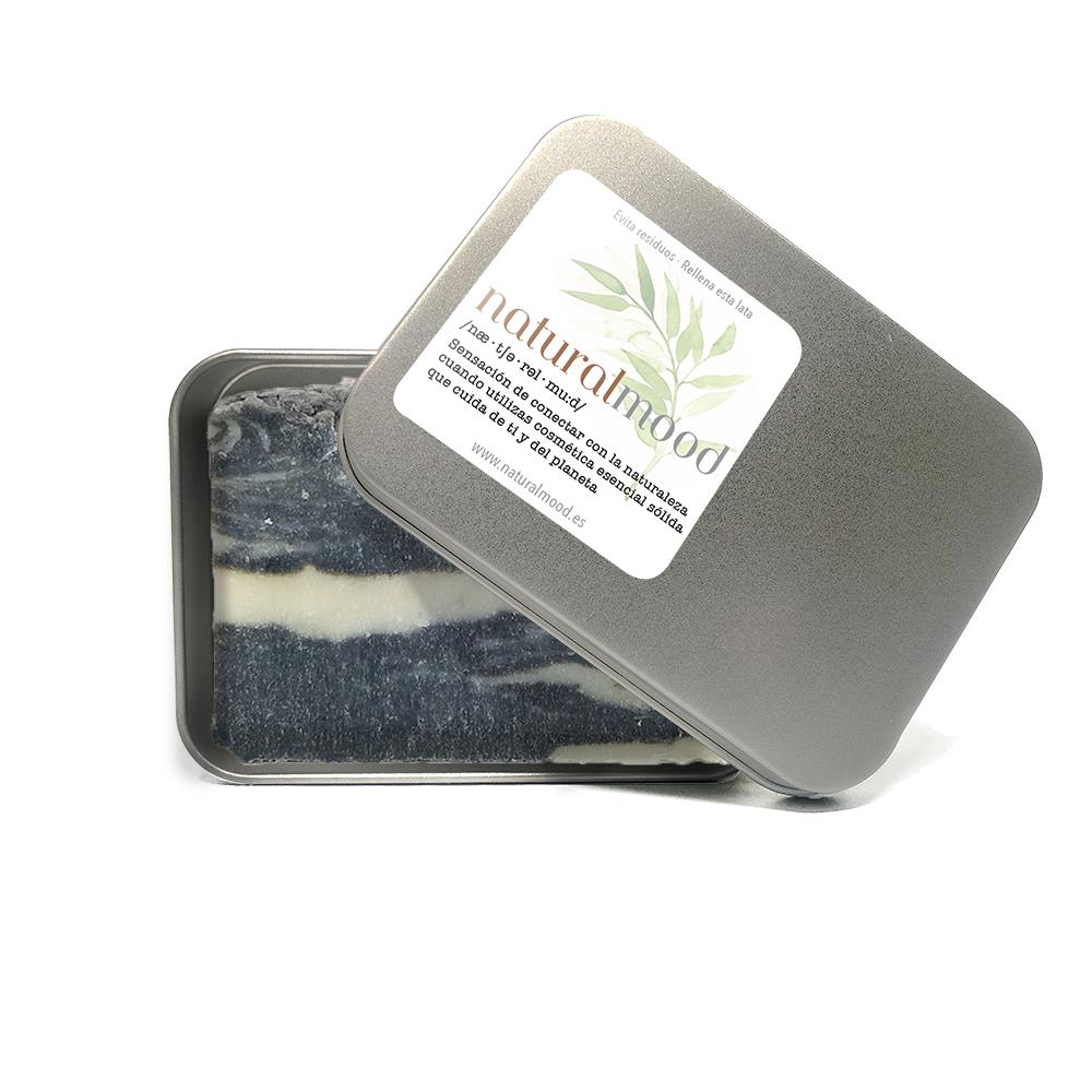 jabón natural de aceite de oliva con lodos marinos.