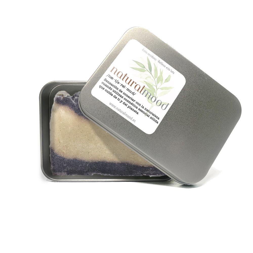 jabón natural de aceite de oliva artesano con piedra pómez